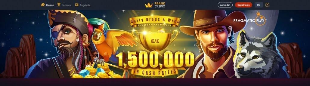 Frank Casino – Erfahrungen & Testbericht: Die Startseite