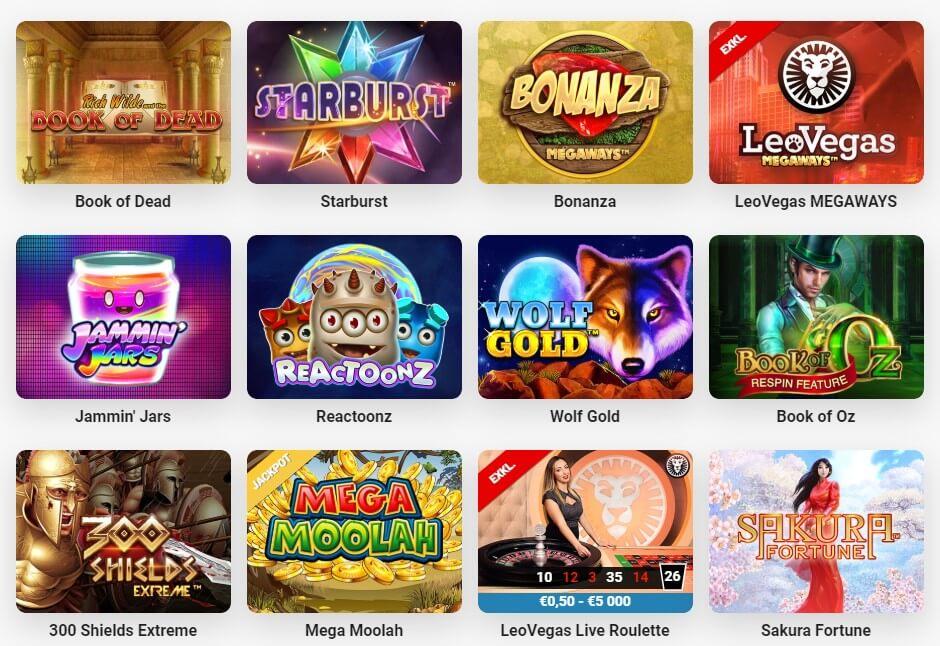 LeoVegas – Erfahrungen & Testbericht: Das Spieleangebot
