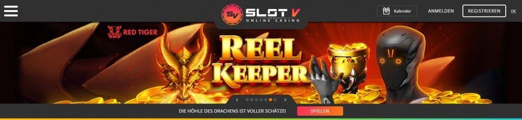 SlotV – Erfahrungen & Testbericht: Die Startseite